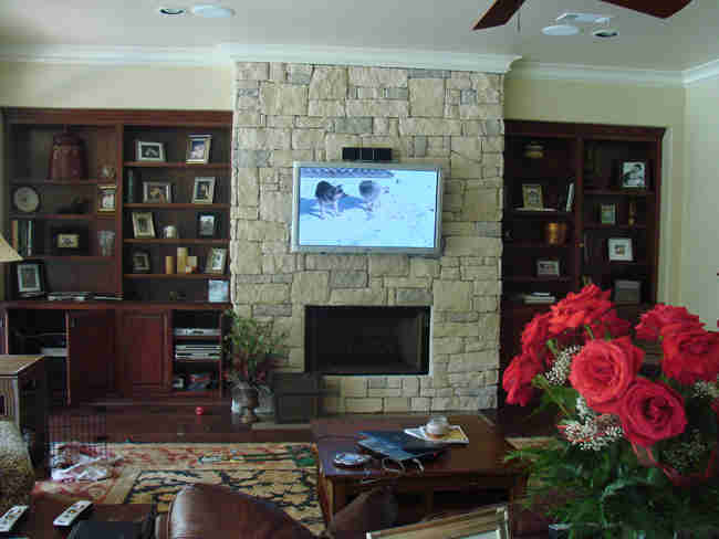 TV Install on Stone